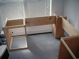 Corner Desk Plan Idea Of Where To Start I Would Put Open Shelves In The End