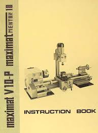 emco maximat v10 p mentor 10 metal lathe instruction manual