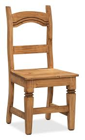Solid Pine Furniture Santa Fe Rusticos Solid Pine Dining Chair The Brick