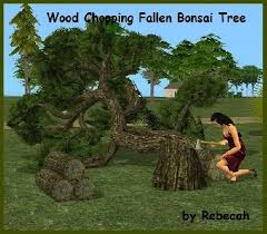chop bonsai trees while building skill and sell the