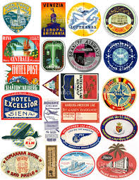 travel stickers images 22 travel luggage labels retro digital printable collage jpg
