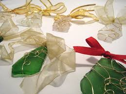 sea glass ornaments made by meg jewelry
