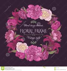 vintage floral card in shabby chic style stock vector image