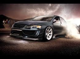 mitsubishi evo custom mitsubishi evo burnout desktop wallpaper