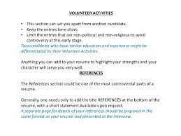 Resume Activities Section Cv Biodata Resume