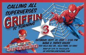 spiderman themed birthday party invitations spiderman birthday