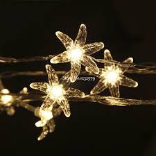 christmas garland battery operated led lights 10m 80 led fairy string lights winter jasmine flower battery