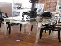 cool mirrors for dining room with round glass table top and