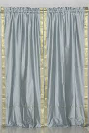 indian selections gray rod pocket sheer sari curtain drape