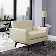 Swivel Chair And A Half Modern Faux Leather Accent Chairs Allmodern