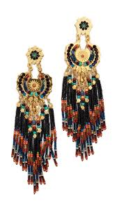 gas earrings lyst gas bijoux fringe earrings