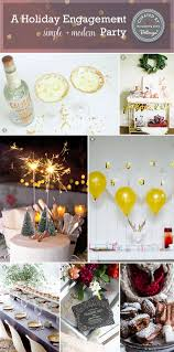 Home Engagement Decoration Ideas A Holiday Engagement Party At Home Make It Simple Modern