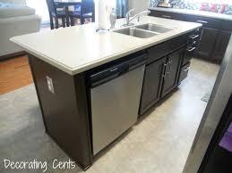kitchen island with dishwasher and sink 78 creative breathtaking kitchen island with dishwasher no sink
