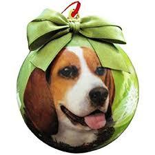 sandicast beagle with santa hat ornament