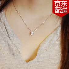 simple silver pendant necklace images 925 silver necklace women silver pendant simple diamond clavicle jpg