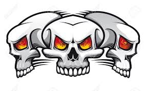 skull tattoo images free danger evil skulls as a tattoo isolated on white royalty free