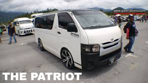 modified toyota toyota hiace modified with full audio sytem mega gathering 2k16