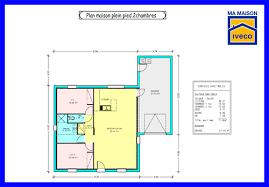 plan maison 2 chambres plain pied maison moderne plain pied 4 chambres beau plan maison 2 chambres