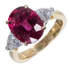 pink gold engagement rings richard krementz rubelite pink tourmaline diamond platinum gold