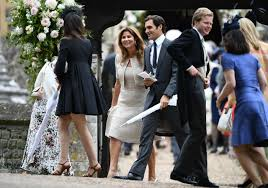 Pippa Wedding Roger Federer Attends Pippa Middleton U0027s Wedding With Wife Mirka