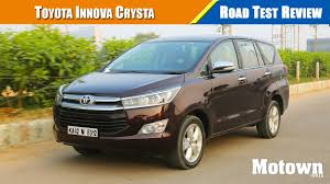 toyota official website india toyota innova crysta petrol 2 7l u0026 diesel 2 8l road test review