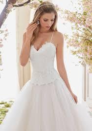 chantilly lace wedding dress bodice style 6840 morilee