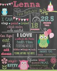 1st birthday chalkboard custom birthday colored chalkboard poster invitation
