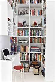 Bookcase Desks Platsbyggd Bokhylla Med Arbetsplats Livingroom Pinterest