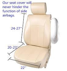 youtube lexus velcro amazon com 120903s tan leather like vinyl 2 front car seat