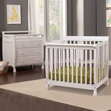 Kalani Mini Crib White Da Vinci 2 Nursery Set Kalani Mini Crib And 3 Drawer