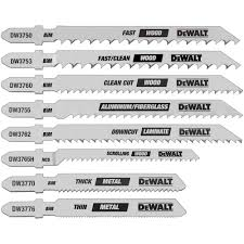 dewalt jigsaw blade saw blades the home depot jig saw blade set bi metal t shank 8 piece