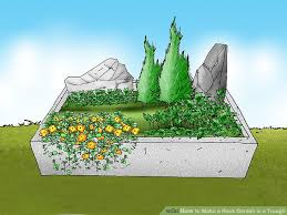 how to make a rock garden in a trough 13 steps with pictures