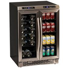 build your own refrigerated wine cabinet avanti wine cooler beverage center open the french doors to a