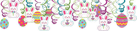 easter rabbits decorations hanging easter decorations party city