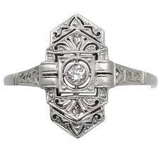 sapphire studios black moissanite white 1920s antique diamond and white gold cocktail ring for sale at 1stdibs