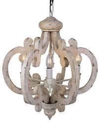 Farmhouse Pendant Lighting Crown Wood Pendant Distressed Antique White Farmhouse Pendant