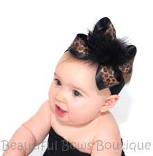 headband online buy black leopard marabou hair bow clip or headband online