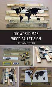 World Map Wood Wall Art by Diy Pallet World Map Wood Sign With Vinyl Lettering Lotc
