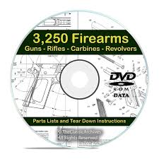 3250 gun rifle pistol firearm shotgun handgun manuals tear down