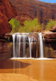 Utah waterfalls images Waterfall in coyote gulch utah photograph by utah images jpg