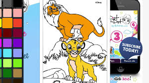 simba and mufasa coloring book the lion king disney coloring page