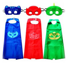 pj mask halloween costumes qoo10 new superhero pj masks cape mask set gekko owlette catboy