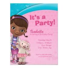 doc mcstuffins birthday invitation zazzle
