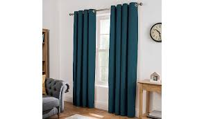 Teal Curtains Cotton Lined Curtains Teal Home Garden George