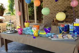 decor beach party table decorations style home design