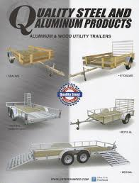 Aluminum Landscape Trailer by Quality Steel U0026 Aluminum Trailers At Concord Amish Village Eden