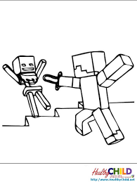 creeper falling minecraft coloring pages