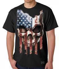 American Flag Skull American Flag Skull T Shirt Back Alley Wear