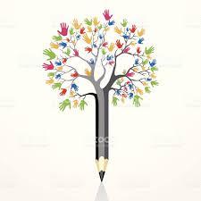 pencil tree stock vector 185642904 istock