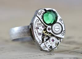 custom rings with images Steampunk ring mens custom jewelry gifts for him jpeg